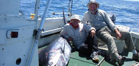 Andy and Darryl with a Marlin on deck