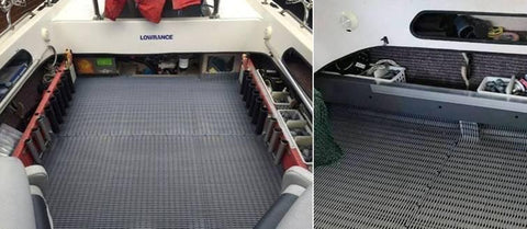 A clean deck matting installation