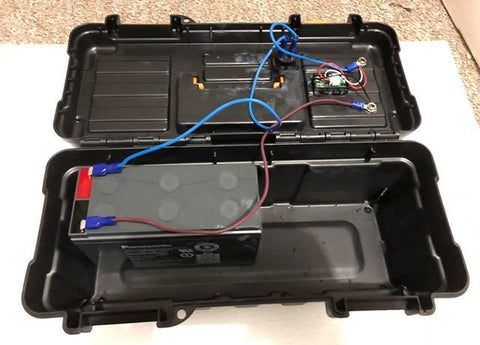 readers DIY portable battery box inside