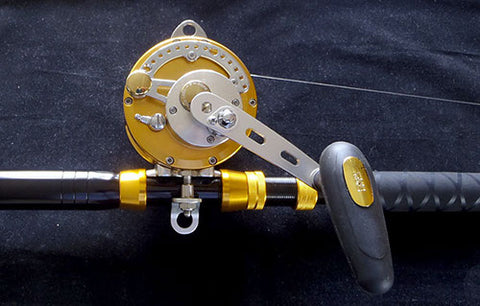 The Tica game reel combo with bent butt rod
