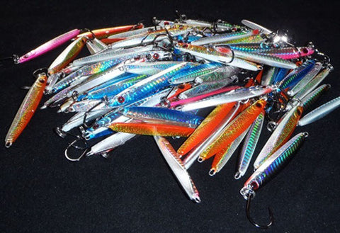 A stack of Downrigger Shop 40 gram jigs