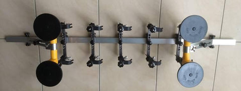 The car rod rack by itself with suction cups