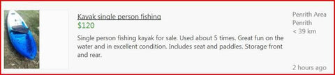 Single Kayaks can be found cheap on gumtree
