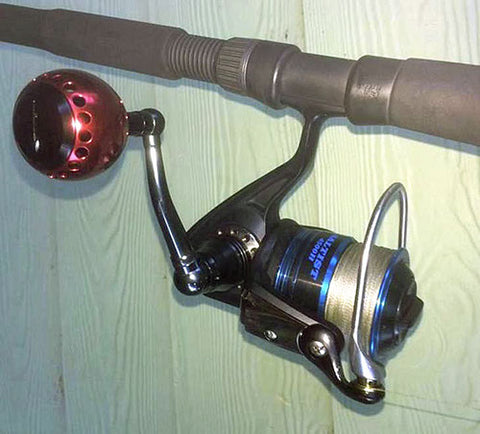 Matt with his finished reel after upgrade