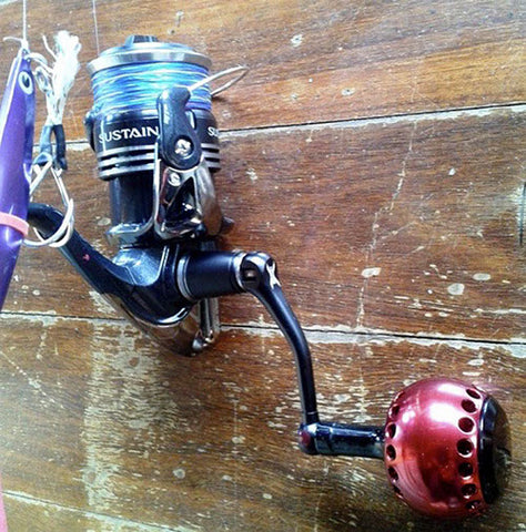 Jim with his upgraded Shimano reel knob