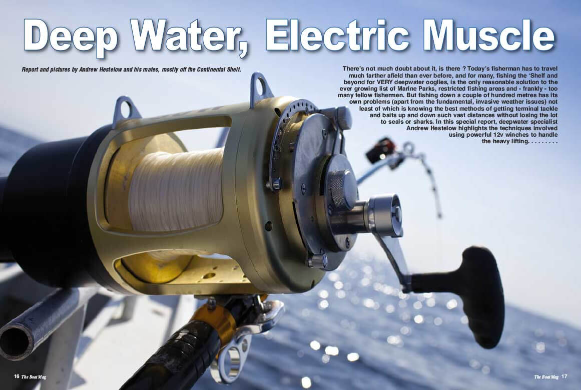 Andy shows you how to start using an electric reel deep sea fishing