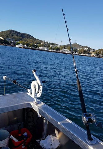 Catching Snapper on a downrigger in Port Stephens
