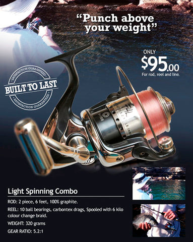 The Downrigger Shop light spinning combo deal