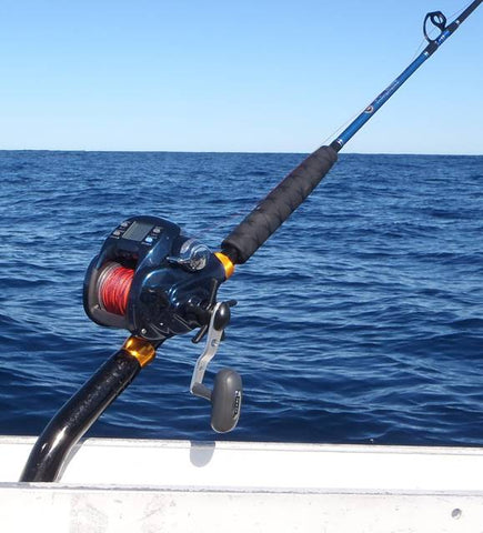 The Diawa Tanacom pairs so well with this rod, and can handle the heavy fish