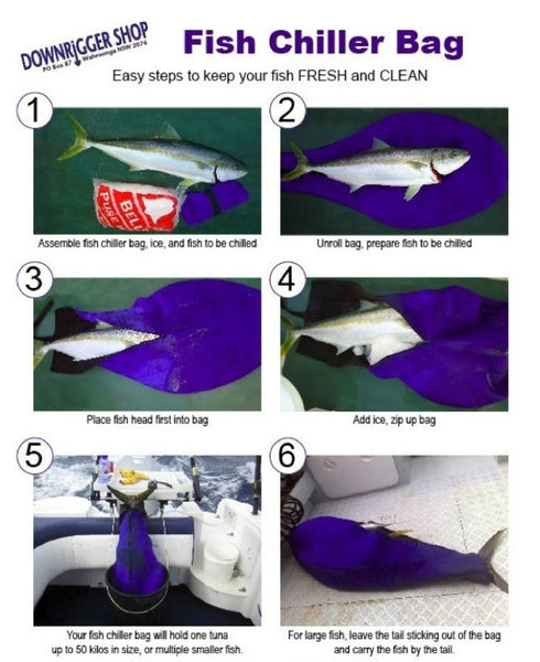 How to use a game fish chiller bag