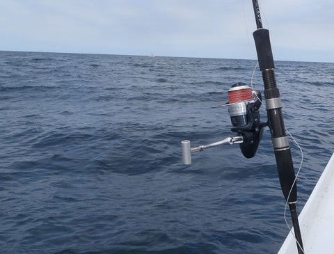 The rod and reel combo ready for action offshore