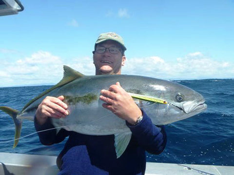 Massive Kingfish caught on green 250 gram knife jig off Tairua