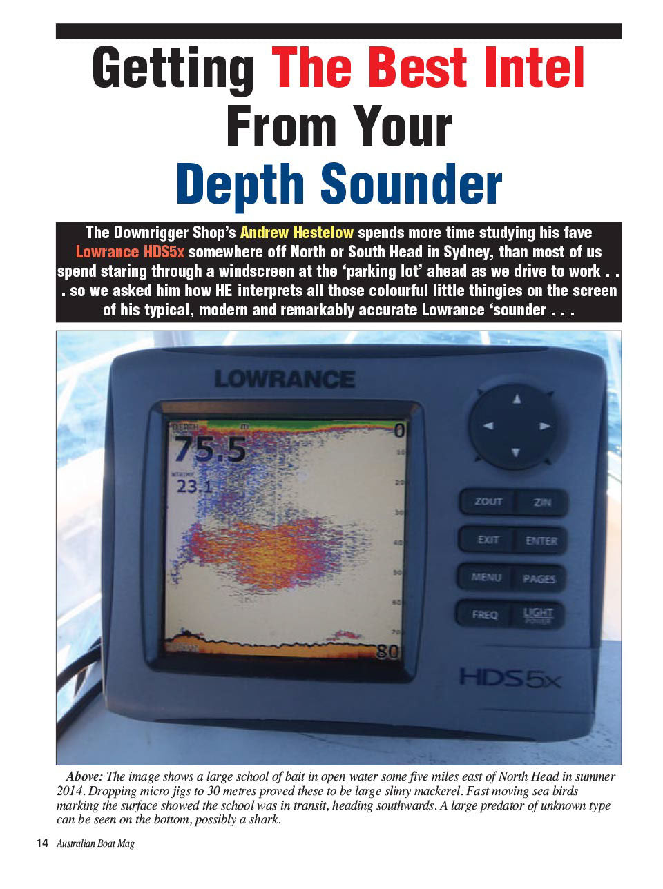 Learn how to read your depth sounder