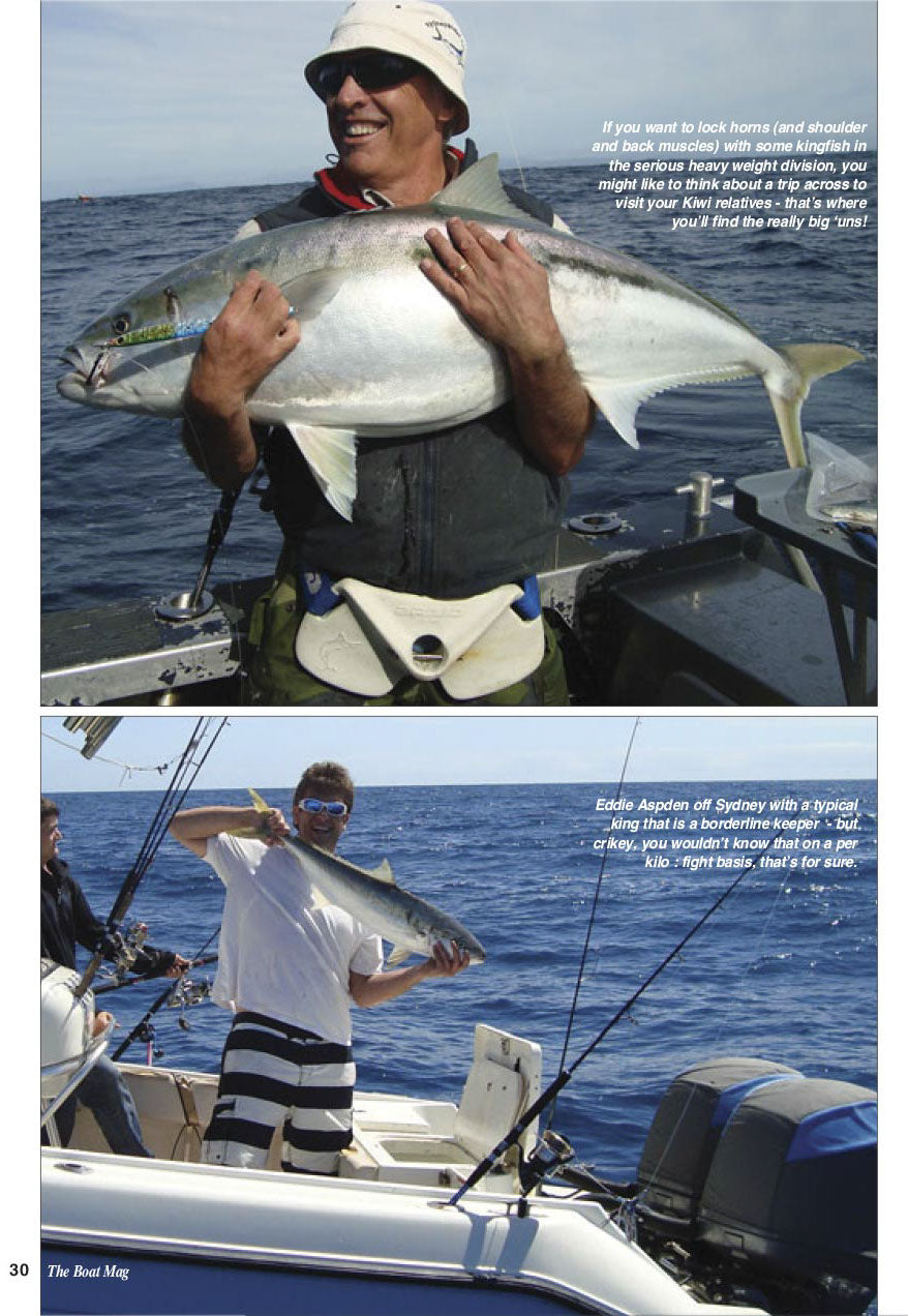 Andy with a giant Kingfish he caught on knife jigs
