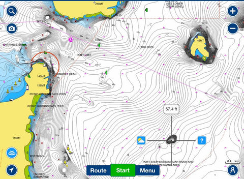 Where to catch Snapper in Port Stephens GPS image