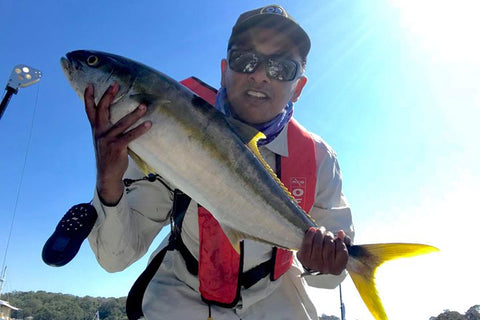 Nan with a Kingfish midweek in Australia