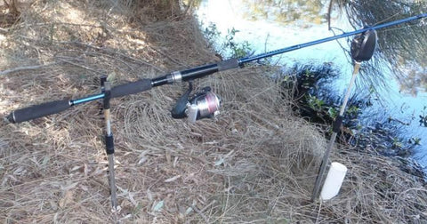 Downrigger Shop light combo set up on bank sticks