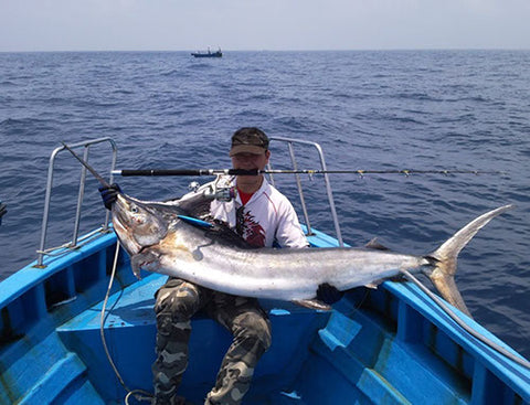 Marlin caught on the Ryobi warrior 8000 combo