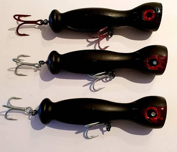 The new Downrigger Shop poppers in black