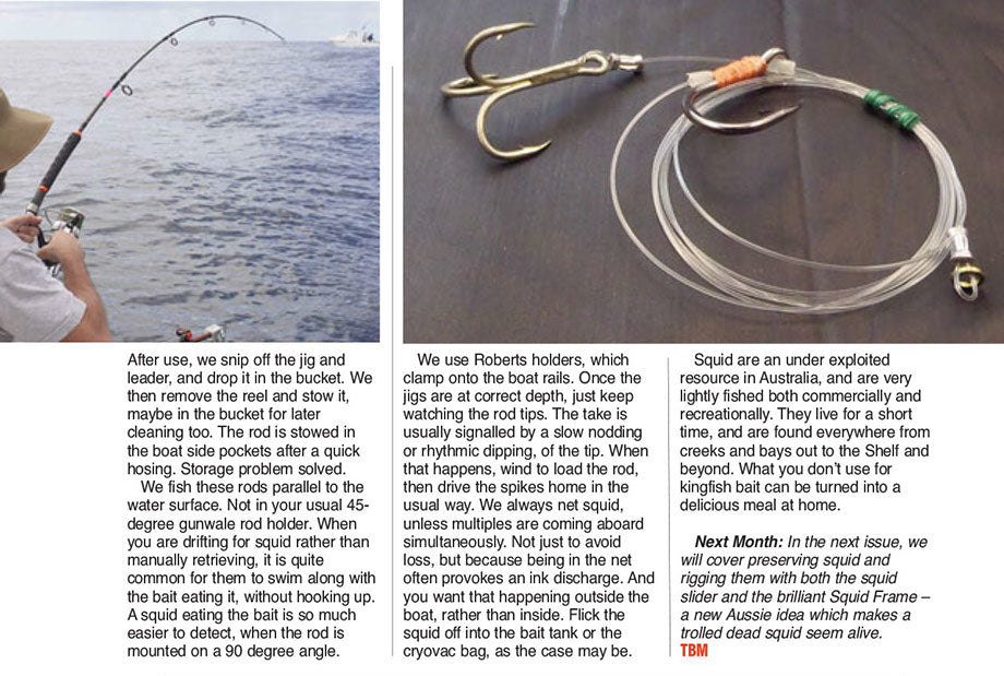 Pre making squid rigs will save time and hassle when you are on the boat fishing