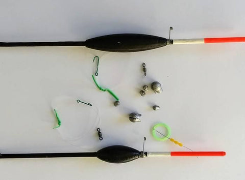Rigging the floats for catching Black fish