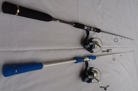 The Bay Jig rod next to a Gomoku