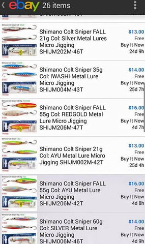 Shimano micro jigs are incredibly expensive