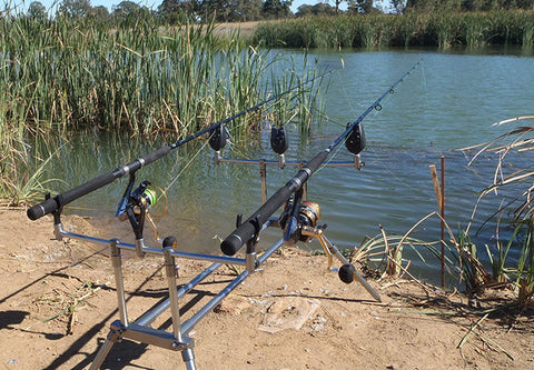 Fishing from the the bank is easy with the right equipment