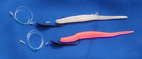 Pre rigged Downrigger Shop Soft Plastics on spoon hooks