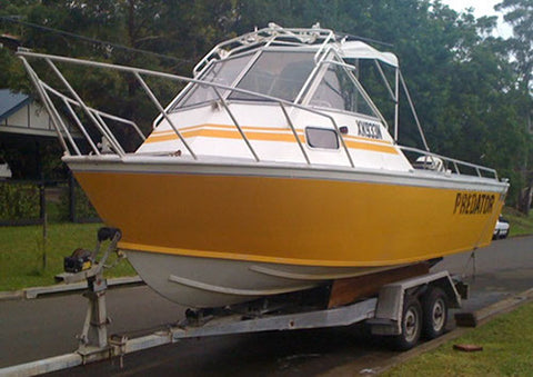A clients boat and trailer that was recently stolen
