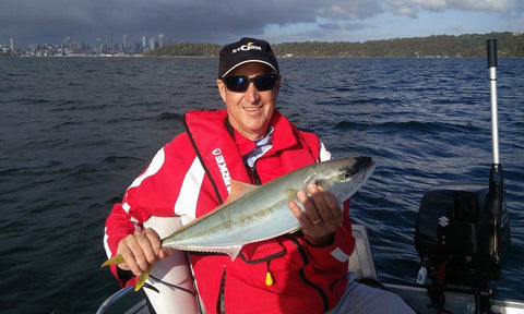 Kingfish caught of Sydney on a downriggershop downrigger