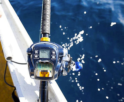 The Downrigger Shop's Tanacom 750 combo in use, fishing deep