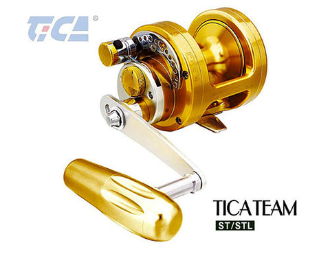 The TICA ST 12 Trolling reel for game fish