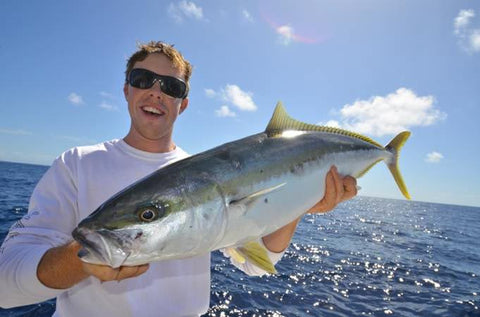Tim jigging Kingfish of Sydney with Downrigger Shop tackle