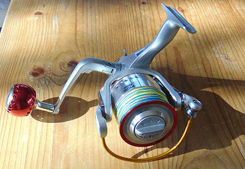 The Ryobi from the top of the reel