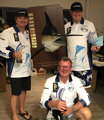 Glenn and crew winning the Whitsunday light tackle gamefish tournament