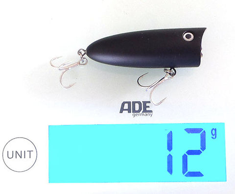 Downrigger Shop poppers only weigh 12 grams