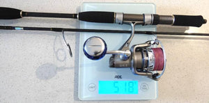 Ryobi 4000 with 6 foot bay jig reel and rod combo