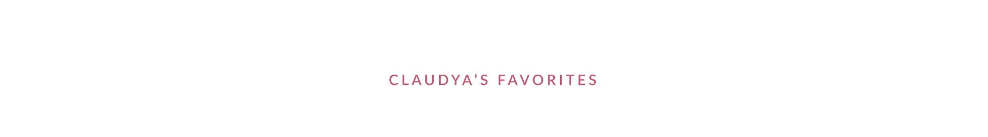 Claudya's Favorites