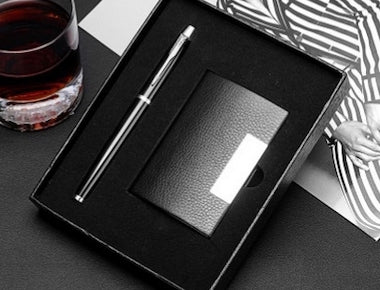 Slim Wallet & Pen Gift Set