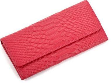 pink genuine leather ladies purse
