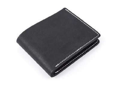 black genuine leather mens wallet