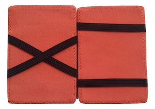 this wallet magically moves cash underneath the straps. Comes in a variety of colors.