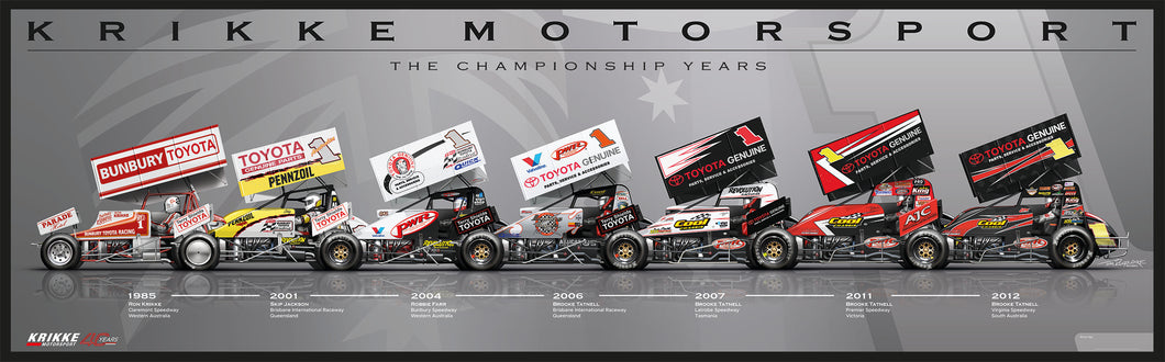 Krikke Motorsport 'The Championship Years' poster
