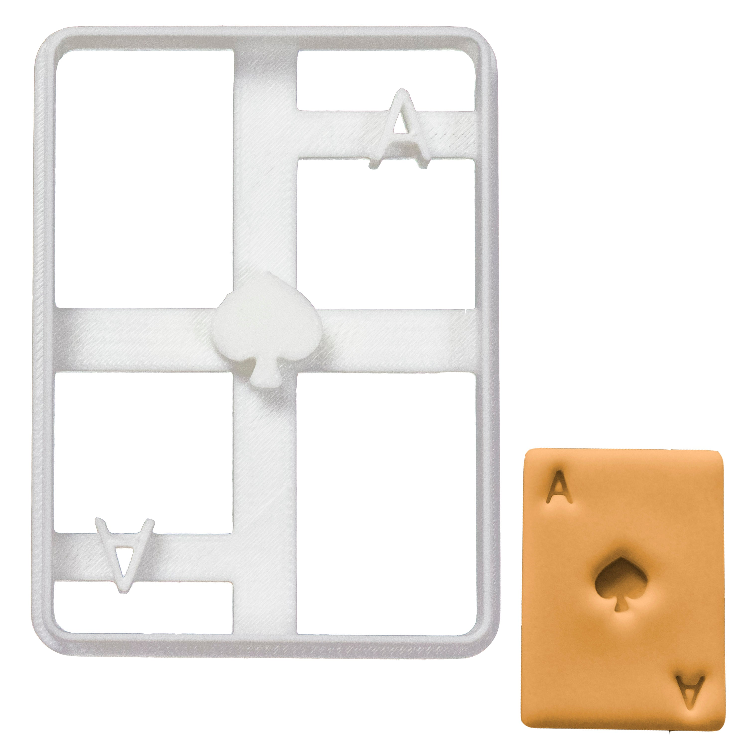 Poker Card Ace of Spades cookie cutter