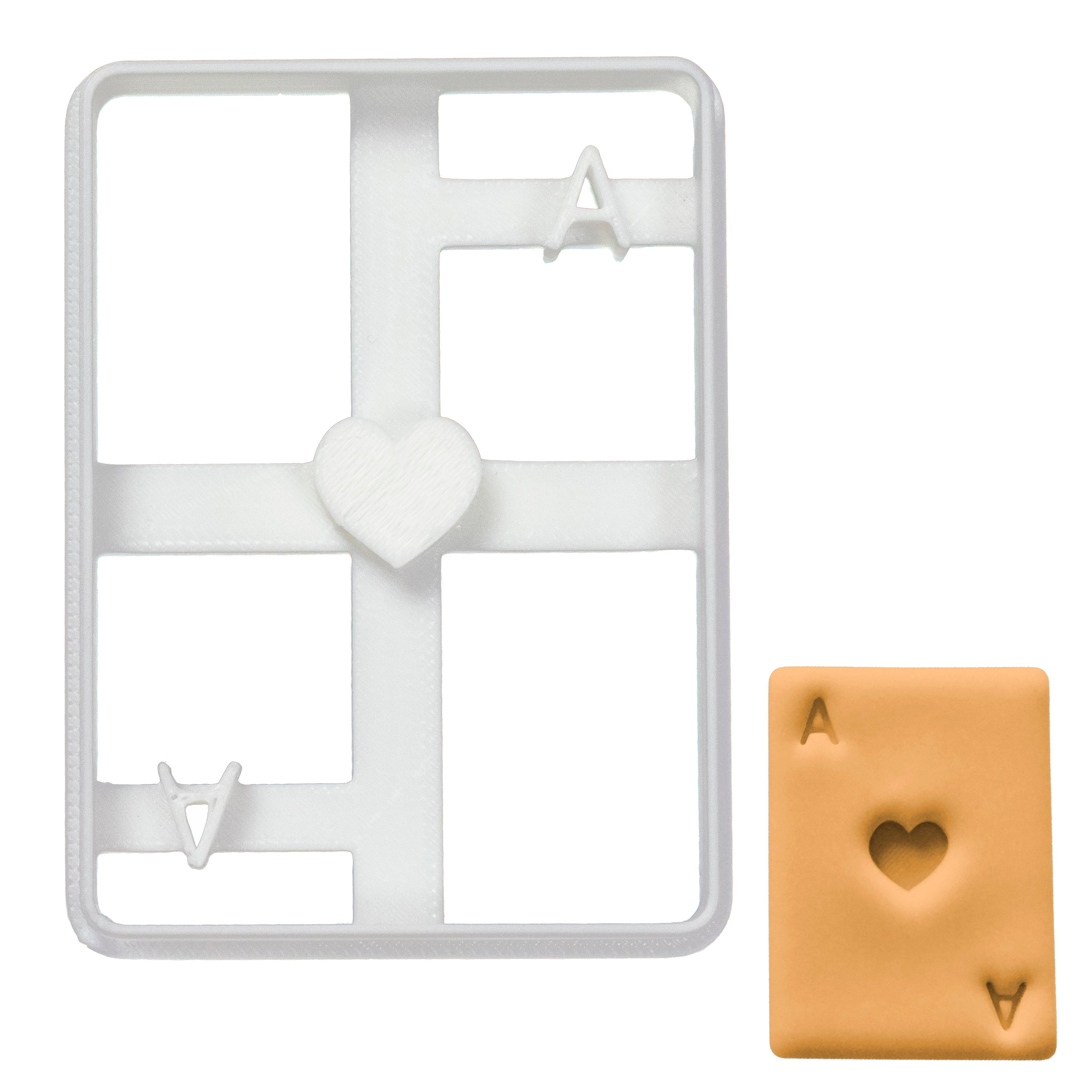 Poker Card Ace of Heart cookie cutter