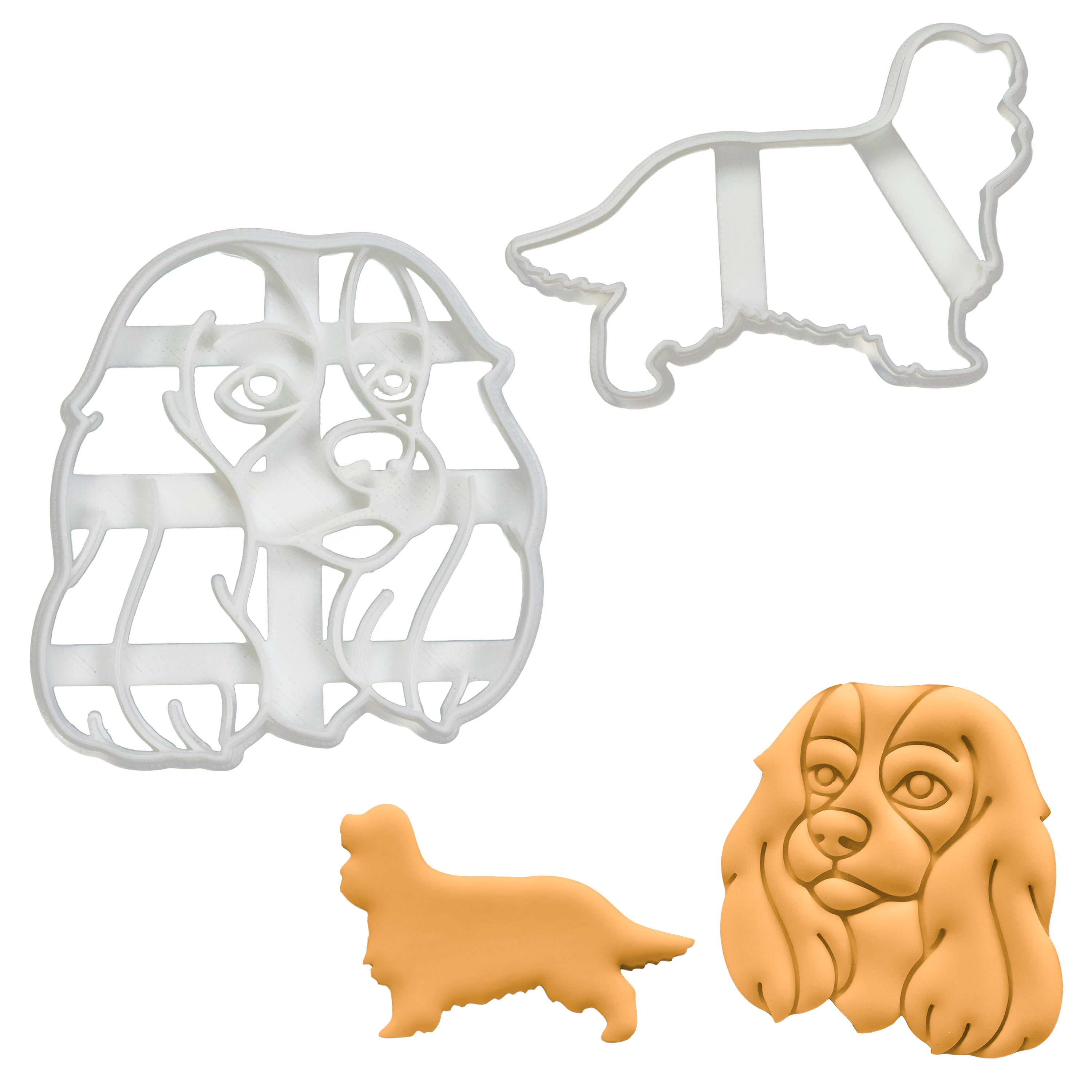 set of 2 cavalier king charles dog cookie cutters