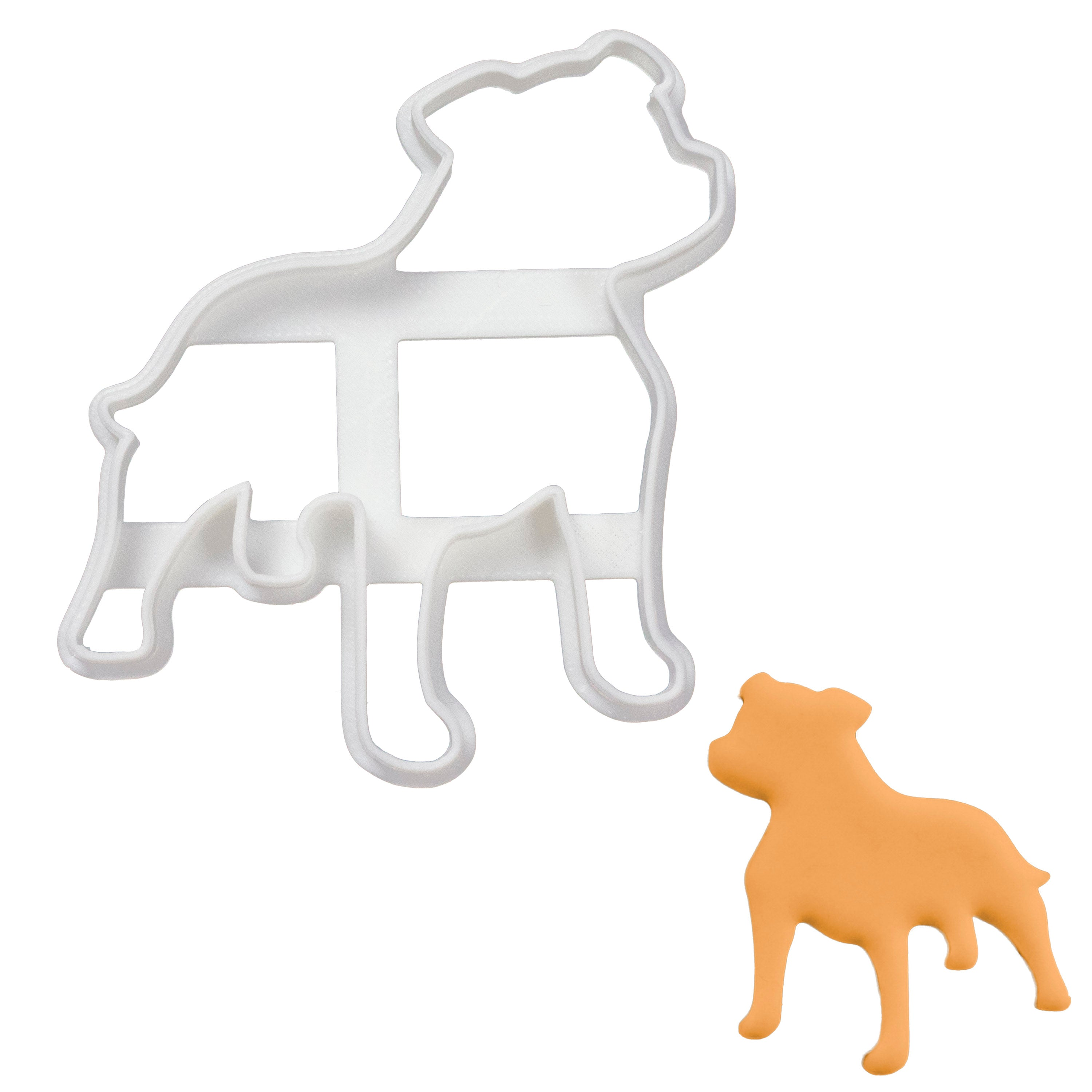 Staffy Staffordshire Bull Terrier Sihouette cookie cutter