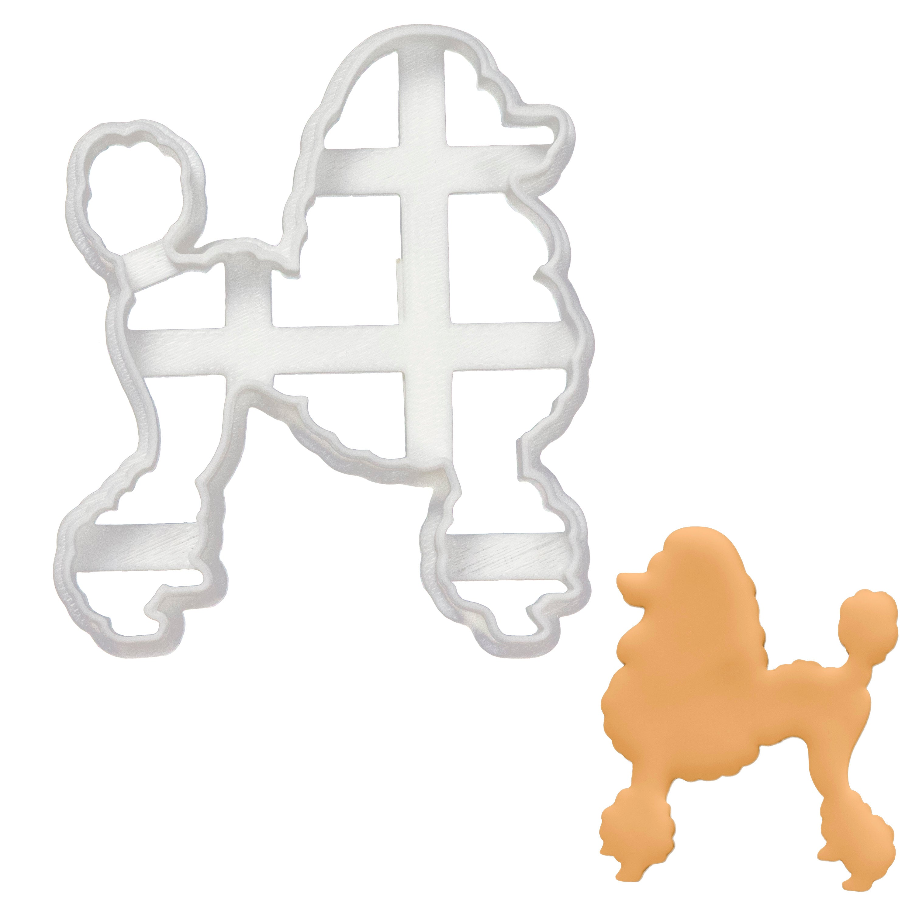 poodle dog silhouette cookie cutter