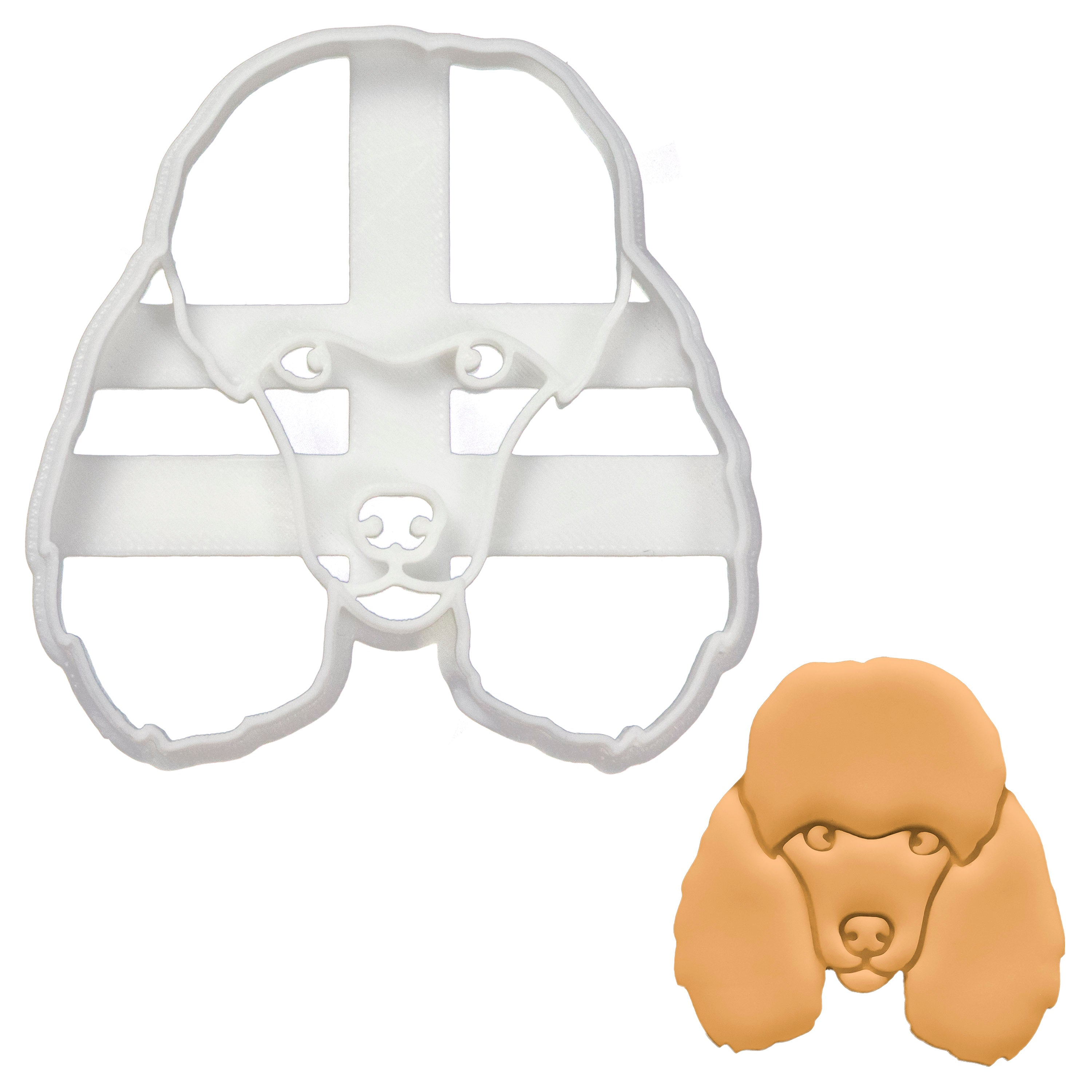 poodle face dog cookie cutter